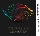 abstract eye illustration with... | Shutterstock .eps vector #277272572