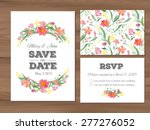 wedding set with watercolor... | Shutterstock .eps vector #277276052