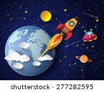 space rocket launch and galaxy .... | Shutterstock .eps vector #277282595