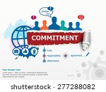 commitment concept and group of ... | Shutterstock .eps vector #277288082