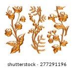 golden tree on isolated white... | Shutterstock . vector #277291196