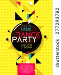 vertical yellow music party... | Shutterstock .eps vector #277293782