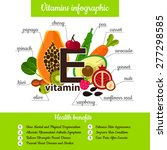 infographic set of vitamin e... | Shutterstock .eps vector #277298585