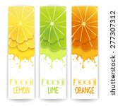 three bright banner with... | Shutterstock .eps vector #277307312