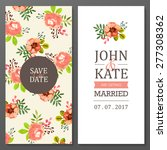 set of invitation cards with... | Shutterstock .eps vector #277308362