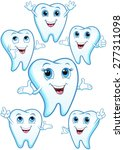 tooth in various body postures  ... | Shutterstock .eps vector #277311098