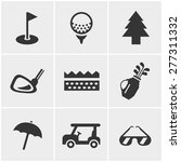 golf  icons set  vector design