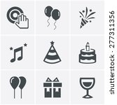 party icons set  vector design | Shutterstock .eps vector #277311356