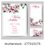 wedding invitation cards with a ... | Shutterstock .eps vector #277315175