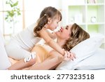 happy mom and child daughter... | Shutterstock . vector #277323518