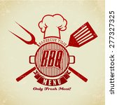 vintage bbq grill party   Shutterstock .eps vector #277327325