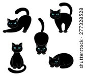 set of cats on a white... | Shutterstock .eps vector #277328528