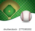 an illustration of a baseball... | Shutterstock . vector #277330202