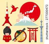 set of japan icon in flat... | Shutterstock .eps vector #277330472