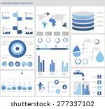 water infographics. information ... | Shutterstock .eps vector #277337102