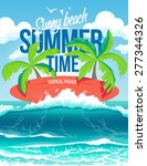 Vector Poster Summer Time And...