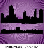 silhouettes of buildings and... | Shutterstock .eps vector #27734464
