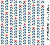 retro wallpaper   floral... | Shutterstock .eps vector #277351832