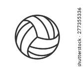volleyball ball    vector icon | Shutterstock .eps vector #277355336