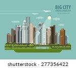 City  Town  Megapolis Vector...
