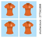 set of shirts with text for... | Shutterstock .eps vector #277361888