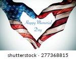 the text happy memorial day... | Shutterstock . vector #277368815
