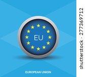 european vector flag button | Shutterstock .eps vector #277369712
