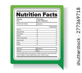 nutrition facts | Shutterstock .eps vector #277369718