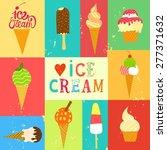 hand drawn ice cream set. cute...   Shutterstock .eps vector #277371632