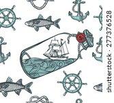 hand drawn vintage nautical...