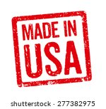 red stamp   made in usa | Shutterstock . vector #277382975