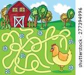 funny maze game    cartoon... | Shutterstock .eps vector #277394996