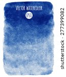 navy blue watercolor vector... | Shutterstock .eps vector #277399082