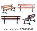 bench isolated on white... | Shutterstock . vector #277400042