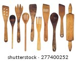 wooden spoons  spatulas and a... | Shutterstock . vector #277400252