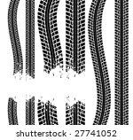 tire track | Shutterstock .eps vector #27741052