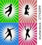jumping shadows   retro...   Shutterstock .eps vector #27742099