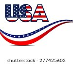 usa stars and stripes  ... | Shutterstock .eps vector #277425602