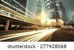 traffic city night  at hongkong ...   Shutterstock . vector #277428068