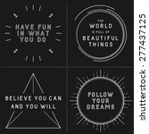 set of typographic designs with ... | Shutterstock .eps vector #277437125
