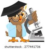 owl professor in mortarboard... | Shutterstock .eps vector #277441736