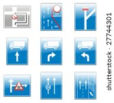 isolated european road signs | Shutterstock .eps vector #27744301