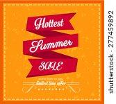 hottest summer sale . vector... | Shutterstock .eps vector #277459892
