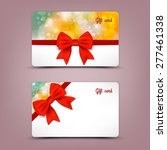 gift cards with ribbons. vector ... | Shutterstock .eps vector #277461338