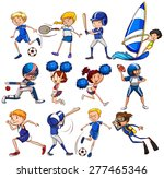 set of sports in blue color on... | Shutterstock .eps vector #277465346