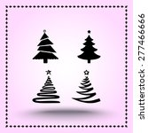 christmas tree sign icons ... | Shutterstock .eps vector #277466666