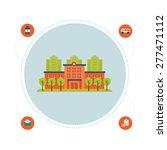 flat design modern vector... | Shutterstock .eps vector #277471112