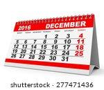 calendar december 2016 on white