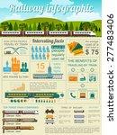 railway infographic. set... | Shutterstock .eps vector #277483406