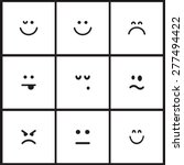 flat vector emotion icons with...   Shutterstock .eps vector #277494422